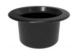Color Match RPTC-02 Retrofit Pebble Top Pole Holder Cap and Plug - Black