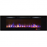 Regal Flame LW2072MC Gotham 72in Wall Mounted Electric Fireplace -Multi-Color