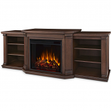 Real Flame 7930E-CO Valmont Entertainment Electric Fireplace - Chestnut Oak