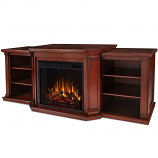 Real Flame 7930E-DM Valmont Entertainment Electric Fireplace - Dark Mahogany