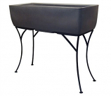 """RTS Elevated Planter w/ Stand Graphite - 36"""" X 15"""""""