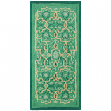 Minuteman Tabriz 56'' x 26'' Rectangular Rug - Emerald City