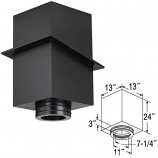 """24"""" Square Ceiling Support Box - 7"""""""