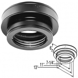 """A Class Chimney Pipe Round Ceiling Support Box - 7"""""""