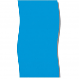 "Swimline LI244820 Solid Blue 24' Round Overlap 48"" Pool Liner"
