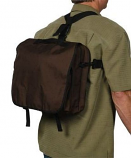Backpack Briefcase - Brown By Blue Flame