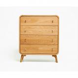 Oak Mood ABE-HE811 Abella High Dresser - Natural Oak