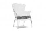 Tasha Clear Polycarbonate Modern Accent Chair