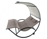 Vivere CHAISRKAL-CO Double Chaise Rocker - Aluminum - Cocoa