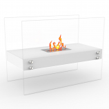 Regal Flame EF6003W Ionic Ventless Free Standing Ethanol Fireplace in White