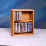 Solid Oak Dowel Cabinet for CD's Model 206-12