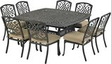 Patio Resort SQDTMN64-BT1 Bridgetown 9-Piece Dining Set