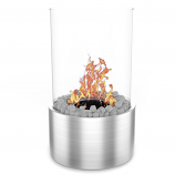 Regal Flame ET7001SS Eden Ventless Tabletop Bio Ethanol Fireplace in Steel