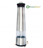 Electric SS Salt and Pepper Grinder with LED Light - Single