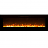 Regal Flame LW2072CY Gotham 72in Wall Mounted Electric Fireplace - Crystal