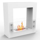 Regal Flame EF6005W Dora Ventless Free Standing Ethanol Fireplace in White