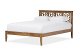 Contemporary Tree Branch Inspired Walnut Wood King Size Platform Bed