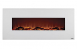 "Ivory 50"" Wide Wall Mounted Electric Fireplace - White"