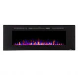 "Sideline 60"" Wide Recessed Electric Fireplace - Black"