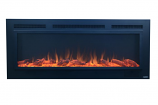 Sideline Steel Recessed Electric Fireplace with Heat and Steel/Screen Face