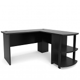 Ryan Rove RR1046 Kristen Corner L-Shaped Computer Desk in Black