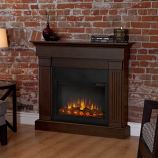 Real Flame Crawford Slim Line Electric Fireplace in Chestnut Oak