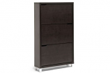 Simms Dark Brown Modern Shoe Cabinet