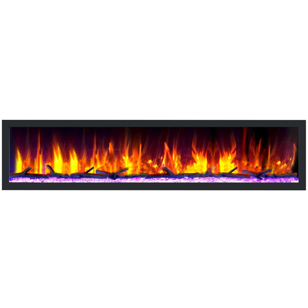 "Dynasty Cascade 82"" Smart Linear Electric Fireplace"