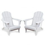 Westin Outdoor Laguna Poly Adirondack Chair -Set of 2, White