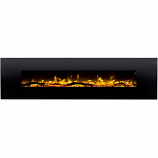 Regal Flame LW5095LE Huron 95in Black Electric Wall Mounted Fireplace - Log