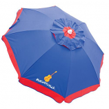 6.5 ft. Umbrella with Integrated Sand Anchor Blue/Red Border