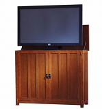 "Elevate Anyroom Lift Cabinet for 42"" Flat Screen TV - Mission Oak"