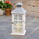 "Camden 16"" LED Candle Lantern - Antique White"