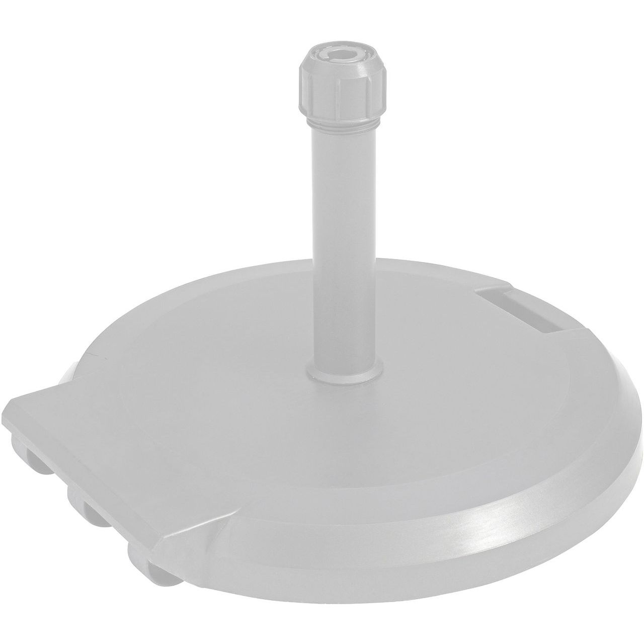 Grosfillex 84 lbs Freestanding Umbrella Base with Wheels in White