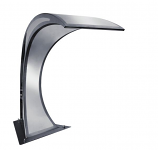 """SEG 106.2-500 Stainless 20"""" Lip Curved Waterfall Triangle"""