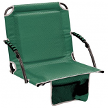 Shelter Logic 10121-412-1 Bleacher Boss Stadium Chair w/Arms - Green
