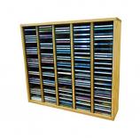 Solid Oak Tower for CD's (Ind. Locking Slots)- Honey Oak Model 509-2