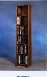 The Wood Shed 615-12 DVD Storage Cabinet - Dark
