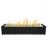 Regal Flame GRT1024 PRO 24in Ethanol Fireplace Grate Burner Insert - 4.8Liter