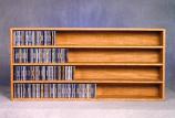 Solid Oak Wall or Shelf Mount CD Cabinet Model 403-4