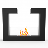 Regal Flame EF6006BK Vinci Ventless Free Standing Ethanol Fireplace in Black