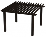 Rustic Pergola RST14 By Bay Pointe Outdoors