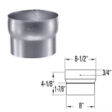 """Stainless Steel Connector - 8"""""""