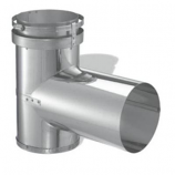 Single Wall Construction Stainless Steel Tee - 8""
