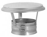 "Stainless Steel Vertical Cap - 8"""
