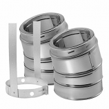 "15 Degree Stainless Steel Elbow Kit - 8"""