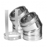 30 Degree Galvanized Elbow Kit - 8""