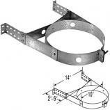 "Adjustable Galvanized Wall Strap - 8"""