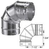 Aluminum 90 Degree Adjustable Elbow - 8 inch