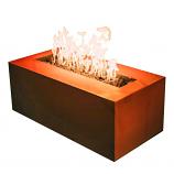 "Firepit Art 72""W Linear Match Lit Fire Pit In Iron Oxide - Liquid Propane"